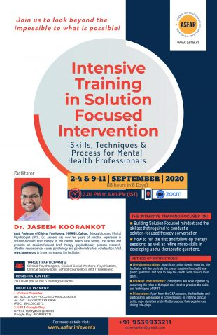 Intensive Course in SFBT October