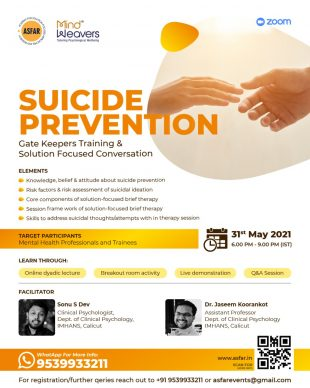 Suicide Prevention: Gate Keepers Training & Solution Focused Conversation